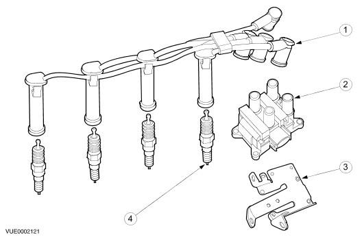 Схема свечных проводов FF1 split 2,0.