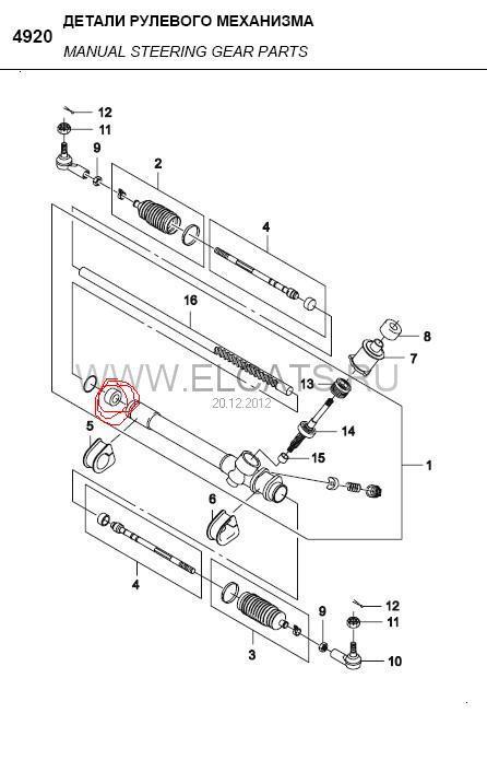 Информация про Картер рулевого механизма с рейкой (93741071, GM - Южная Корея) .