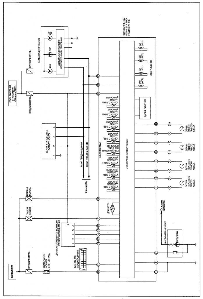 электрическая схема ниссан