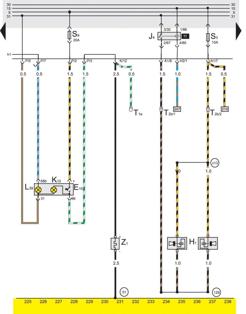 Базовая комплектация электрооборудования на Volkswagen Passat B3.