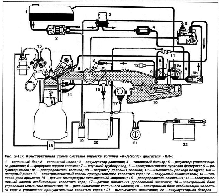 Схема двигателя пассат б3 1.8 моно