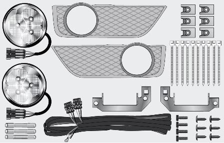 Светодиодные фары дневного света, дневные ходовые огни Hella Ford Focus 2PT 010 177-811 (комплект) .