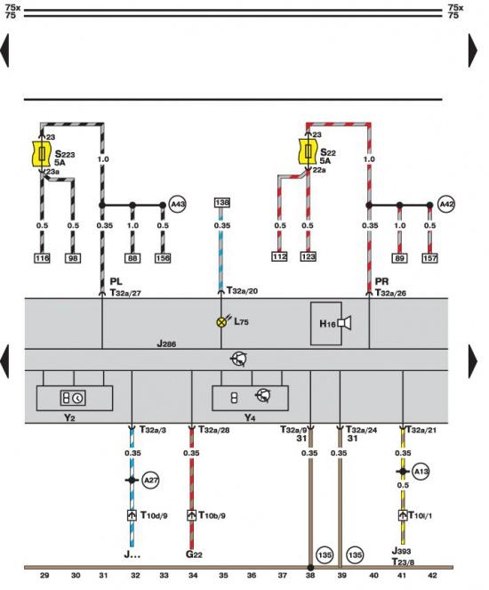 14.35.8 Контрольные лампы тормозной системы, наружного освещения.