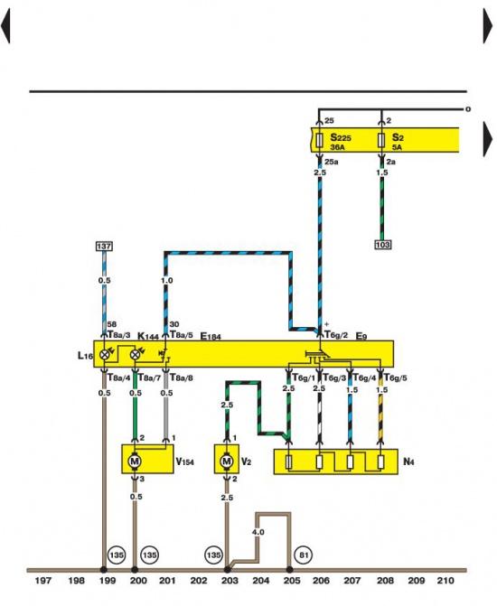 Переключатель и двигатели управления рециркуляцией воздуха Volkswagen Passat B5.