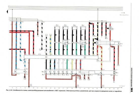 схема датчиков пассат б5