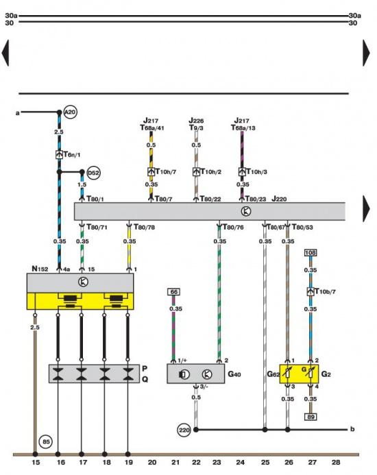 Система управления двигателем Motronic, сигнализация Volkswagen Passat B5.
