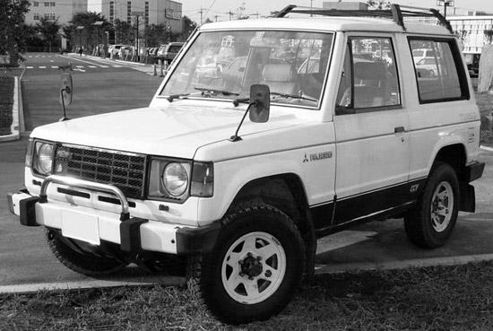 Первое поколение Mitsubishi Pajero в серийном исполнении.