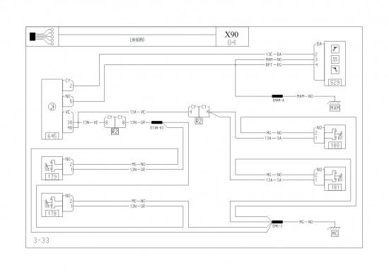Принципиальная схема.  Коммутационный блок салона.  Плафон освещения салона.