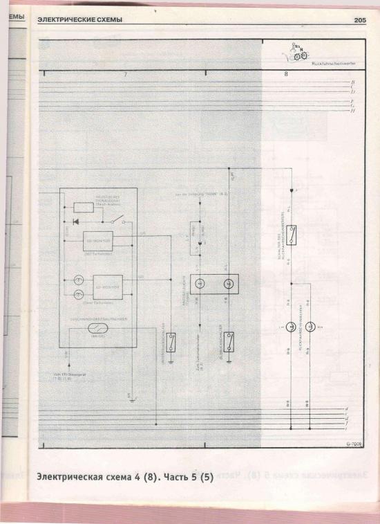Corolla (VI - е поколение) Электрическая схема 4,5.