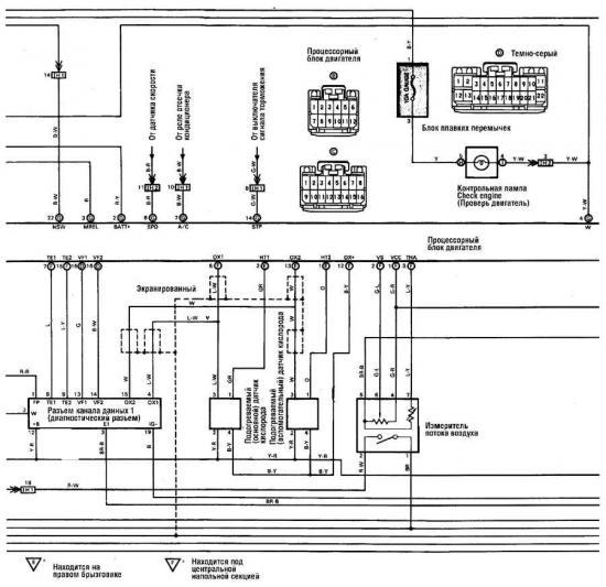 От. комментариев.  Cruiser FJ80 Принципиальная схема.  Схема управления двигателем. написал 16.10.10.