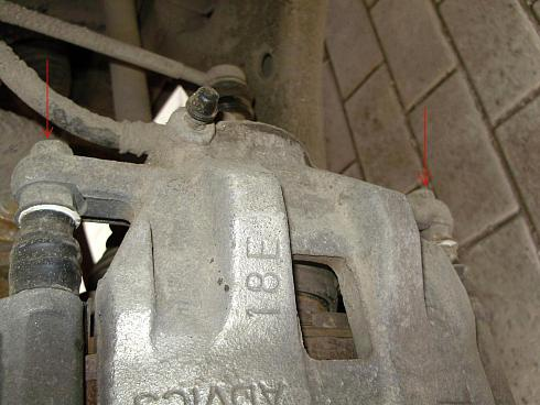 Замена передних тормозных колодок 86