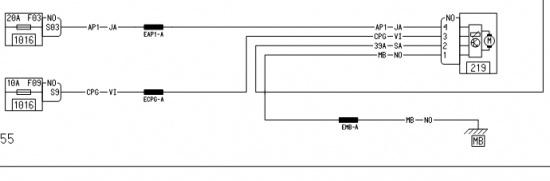 Принципиальная схема.  Насос омывателя фар.  L90-LAVPN.