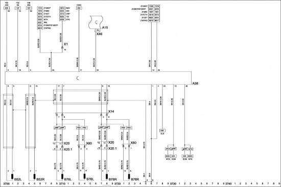 9.23. Схема 22: антиблокировочная тормозная система и регулирование тягового усилия (ABS 8) .