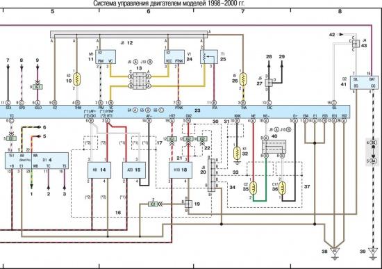 Электрическая схема соединений микропроцессорной системы зажигания для газель схема принципиальная электрическая...