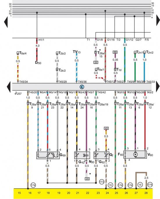 Passat B3/В4 Схема 49.