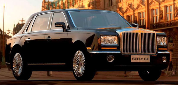 Geely GE - жалкая копия Rolls-Royce Phantom.