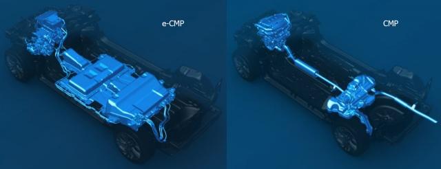 Версия CMP: электрическая слева, с внутренним сгоранием справа