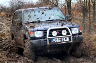 Внедорожники Mitsubishi на бездорожье