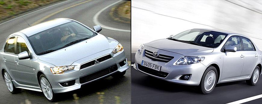 Ford Focus, Mitsubishi Lancer, Toyota Corolla - обзор 2008