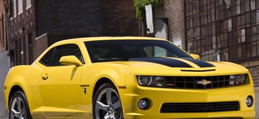 """Chevrolet Camaro """"Bumblebee"""" и другие знаменитые автомобили в кино"""