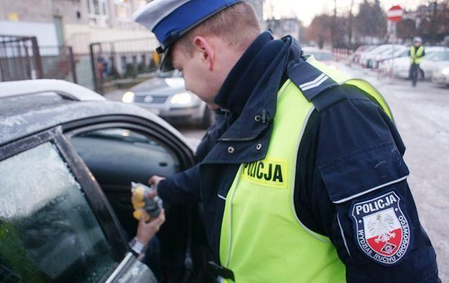 Польский дорожный полицейский