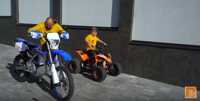 Мотоцикл против квадроцикла