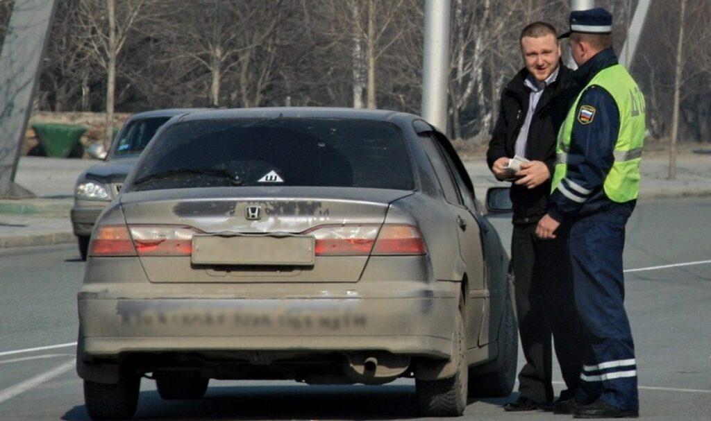 Автомобиль с загрязненным номером