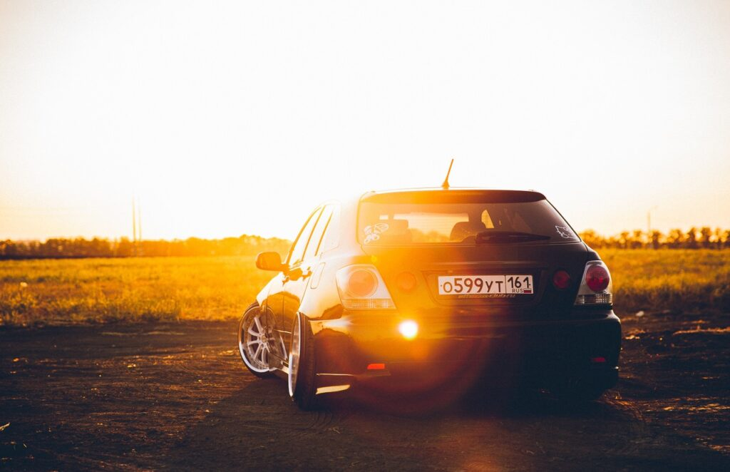 Toyota Altezza и закат - удвоенная красота