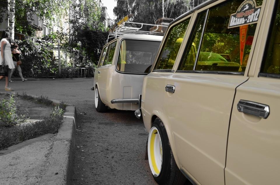 ВАЗ 2102 с прицепом - своеобразное ретро