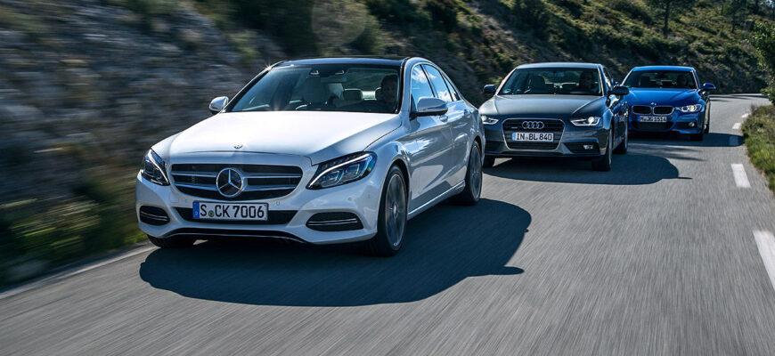 Mercedes C-Class, Audi A4, BMW 3 - что к чему?