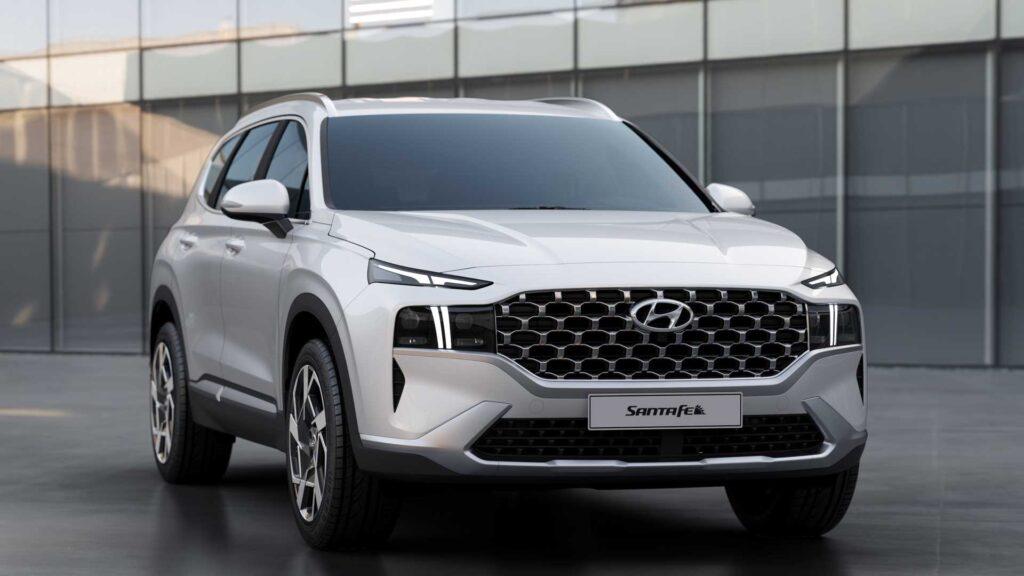 Hyundai Santa Fe, вид спереди