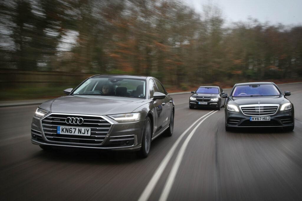 Флагманы Mercedes, Audi, BMW: чем отличаются S-class, A8 и 7 series?