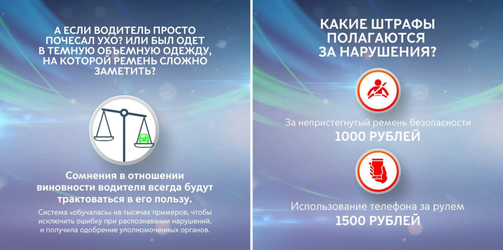 Размер штрафов за нарушения