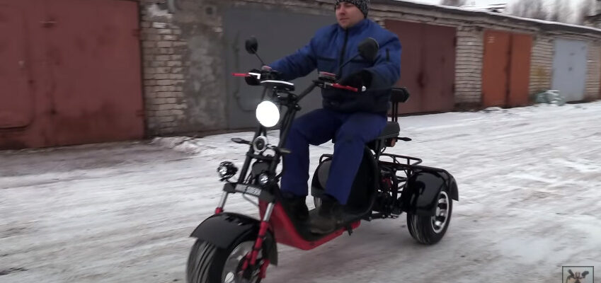 Видео: снегоход на электротяге своими руками