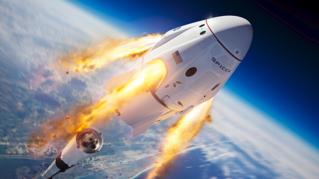 Запуск капсулы SpaceX