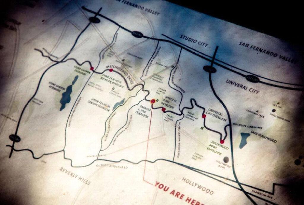 Карта Малхолланд драйв