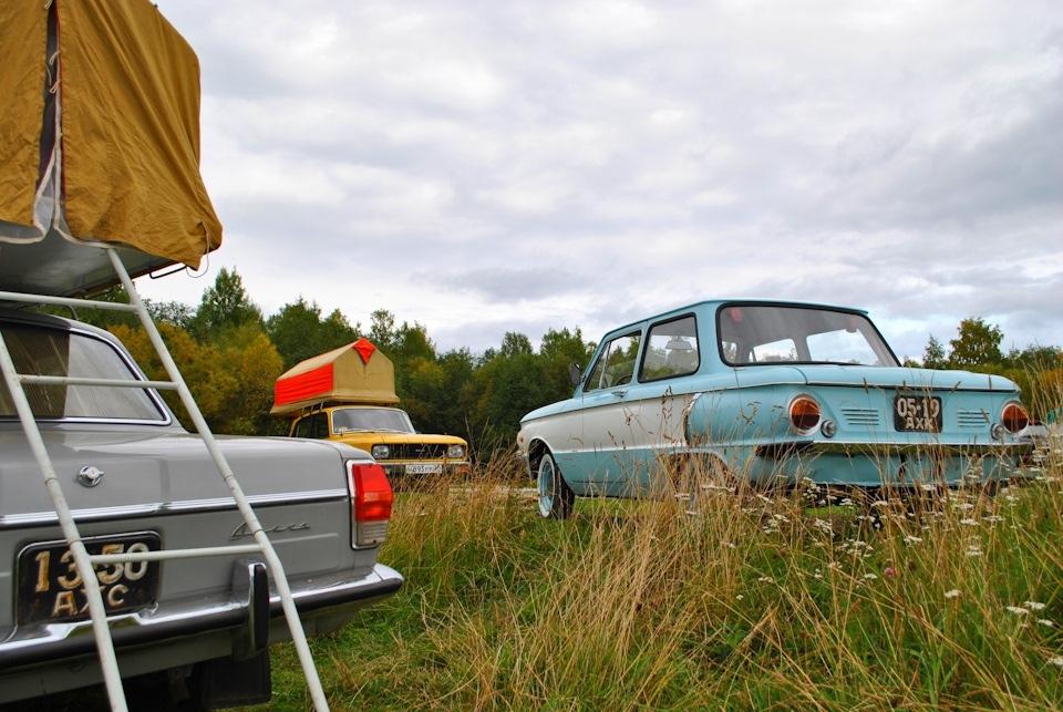 Советское трио, Волга-Москвич-Запорожец, на культурном отдыхе