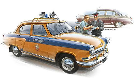 Автомобили и события СССР в художественных картинах