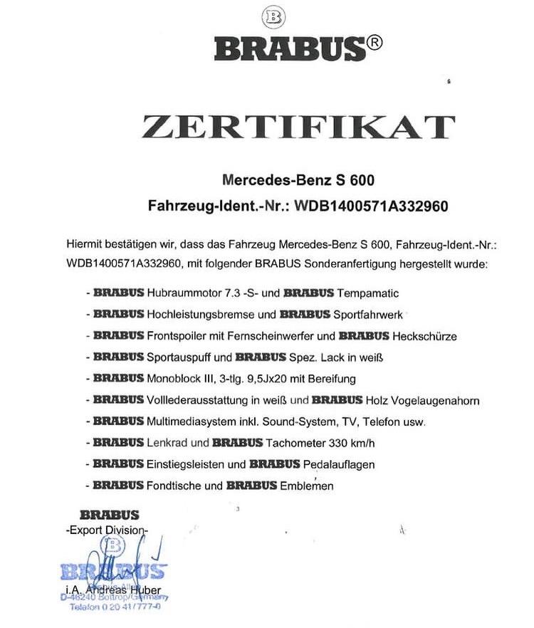 """Шестисотый"" Mercedes-Benz за 19 млн рублей"