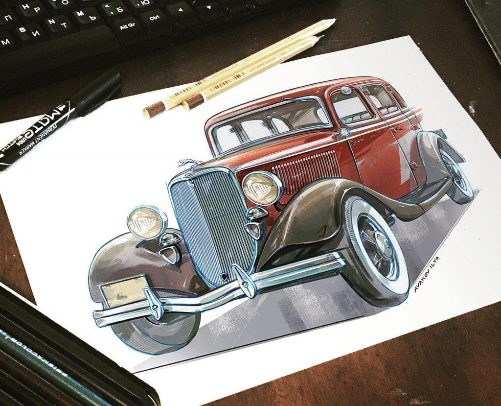 Возможно в скором времени автомобили будут именно такими, как на этих картинах