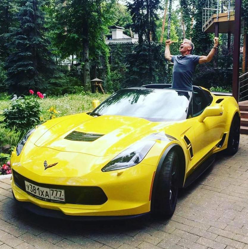 Газманов со своим Corvette