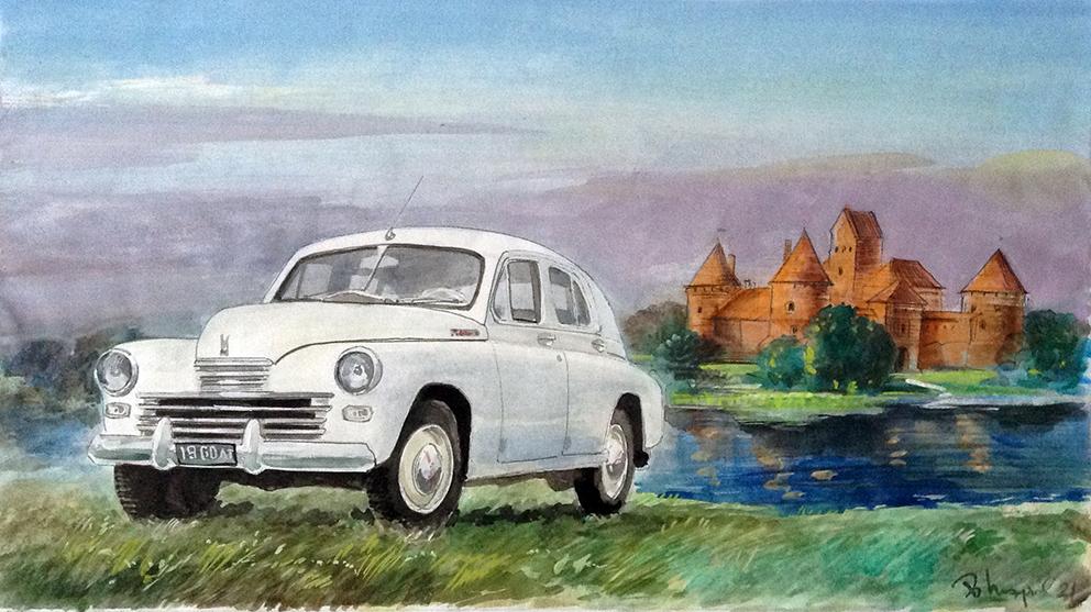 Картины советского ретро-автопрома - возвращение в СССР