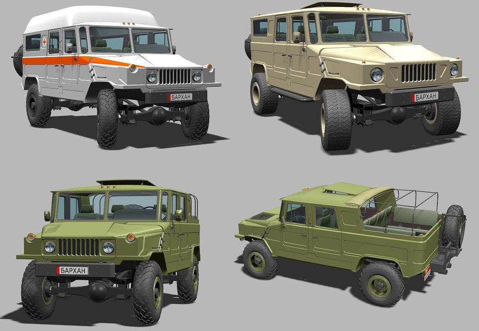 С помощью 3D моделирования можно представить возможные модификации «Бархана»