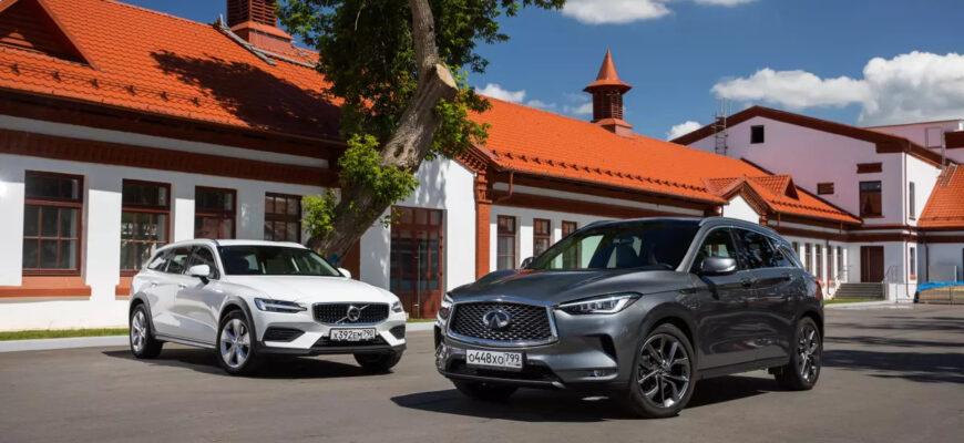 Способен ли универсал заменить кроссовер: Volvo V60 Cross Country против Infiniti QX50