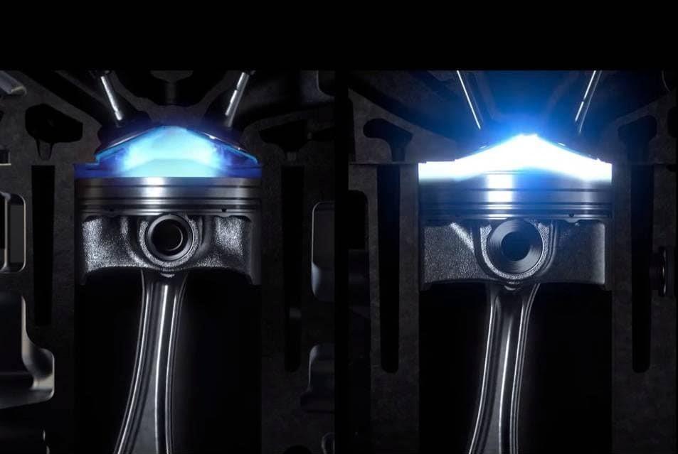 Наглядное сравнение процесса воспламенения; Skyactiv спарва