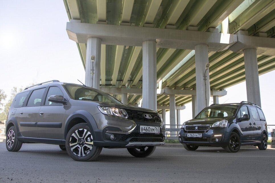 Сравниваем «каблучки»: Lada Largus Cross против Peugeot Partner Crossway