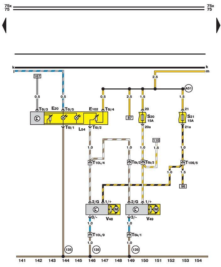 Схема проводки на фольксваген пассат