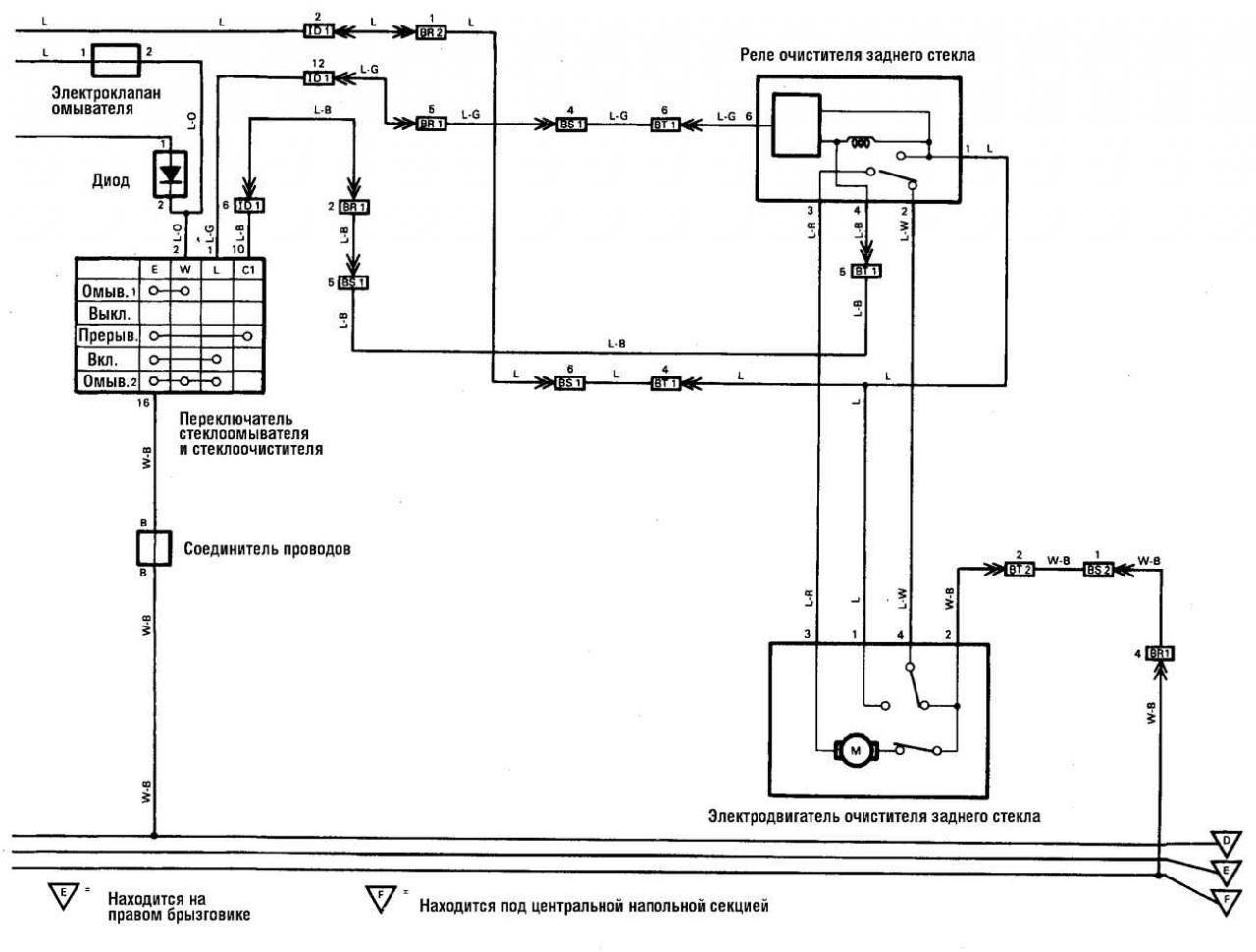 Ленд крузер 80 схема реле стартера