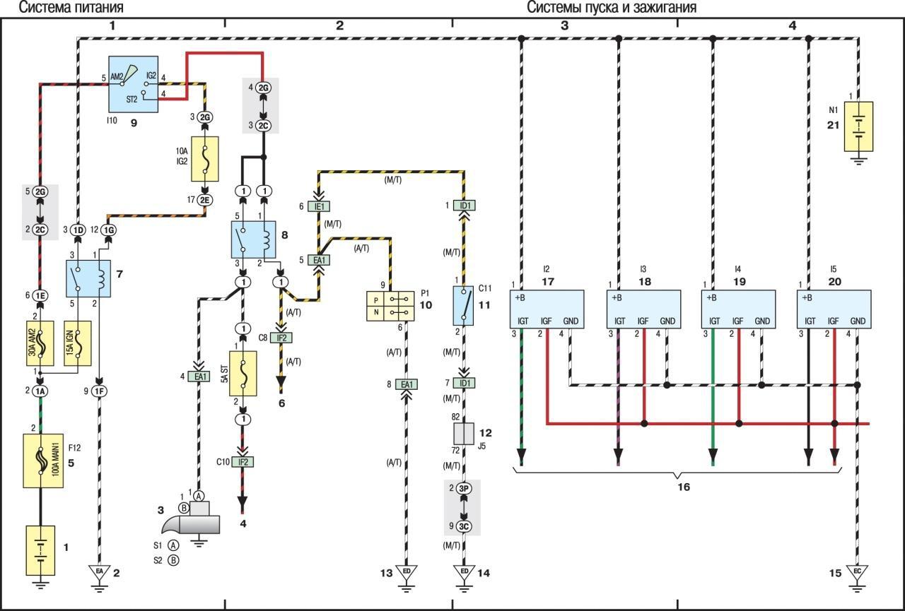 Рав 4 схема бензонасоса