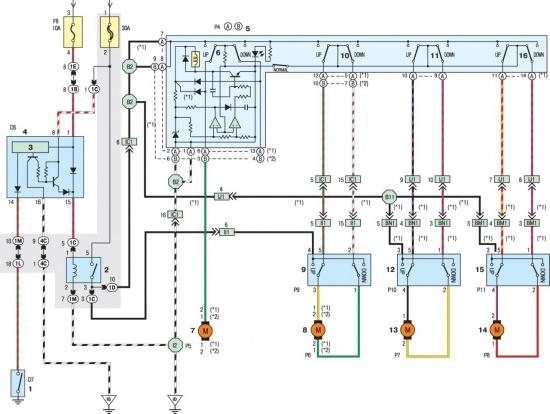 двигателя стеклоподъемника
